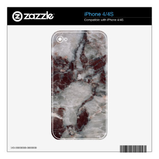 Bordeaux Grisso Decorative Stone - Rugged Beauty Skin For The iPhone 4S