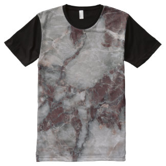 Bordeaux Grisso Stone Pattern Background - Rugged All-Over-Print T-Shirt