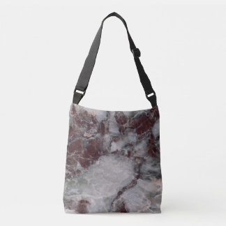 Bordeaux Grisso Stone Pattern Background - Rugged Crossbody Bag