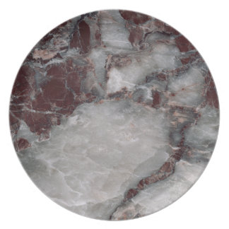 Bordeaux Grisso Stone Pattern Background - Rugged Dinner Plate