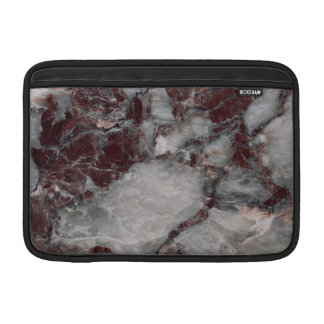 Bordeaux Grisso Stone Pattern Background - Rugged MacBook Sleeves
