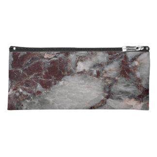 Bordeaux Grisso Stone Pattern Background - Rugged Pencil Case