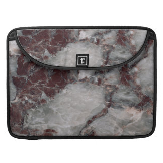 Bordeaux Grisso Stone Pattern Background Sleeve For MacBook Pro