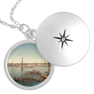 Bordeaux Harbor II, Aquitaine, France Locket Necklace