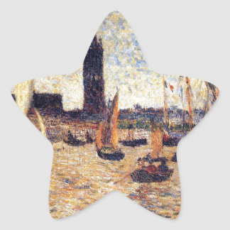 Bordeaux Harbour by Paul Gauguin Star Sticker