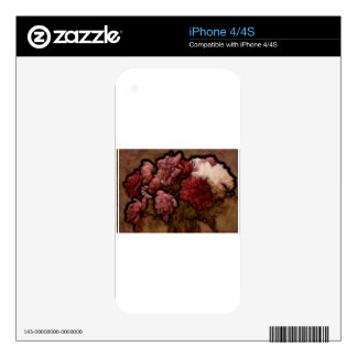 Bordeaux Peony Flower Bouquet Decals For The iPhone 4