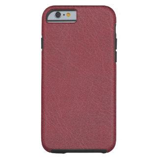 Bordeaux Red Leather Texture Tough iPhone 6 Case