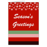 Bordeaux Red Pink Green Christmas Greeting Card
