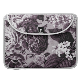 Bordeaux Red Vintage Floral Toile No.1 MacBook Pro Sleeve