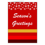 Bordeaux Red Yellow Christmas Greeting Card