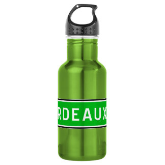 Bordeaux, Road Sign, France Stainless Steel Water Bottle