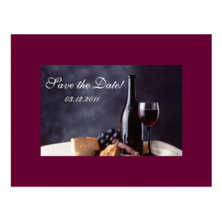 Bordeaux Save the Date Post Card