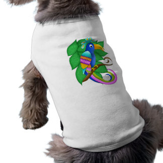 Bordeaux Tropical Bird with Leaves Pet Clothing