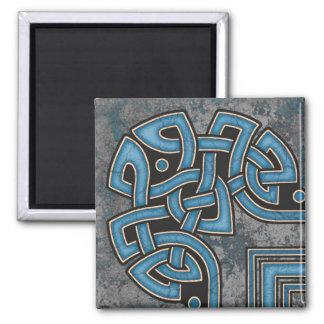 Border A, Blue Corner Magnet