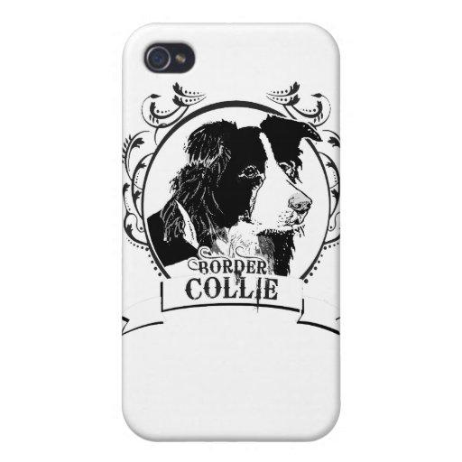 BORDER COLLIE (2) iPhone 4 CARCASA