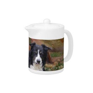 Border Collie 2 Teapot