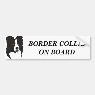 Border collie a bordo pegatina de parachoque