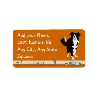 Border collie - agilidad etiquetas de dirección