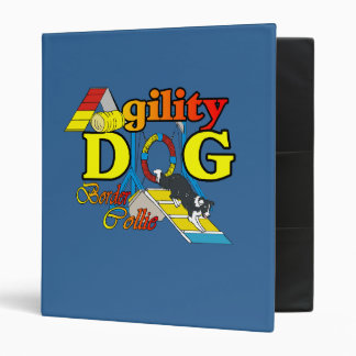 Border Collie Agility 3 Ring Binder