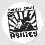 Border Collie Agility A-Frame Stickers