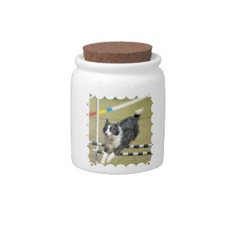Border Collie Agility Candy Jar
