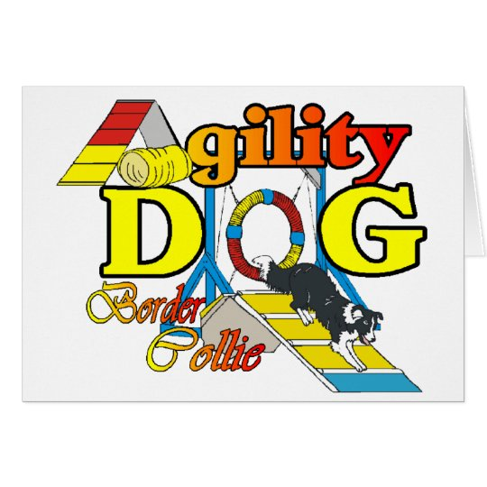 Border Collie Agility Gifts Card