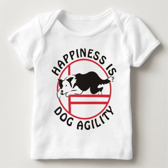 Border Collie Agility Happiness Baby T-Shirt