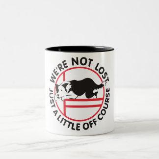 Border Collie Agility Off Course Two-Tone Coffee Mug