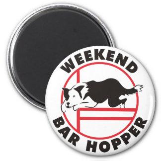 Border Collie Agility Weekend Bar Hopper Fridge Magnet