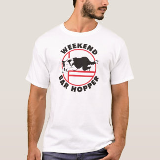 Border Collie Agility Weekend Bar Hopper T-Shirt