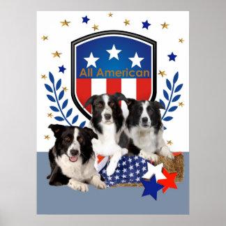 Border Collie All American Print