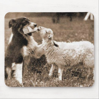 """Border Collie and Lamb""~Mousepad Mouse Pad"