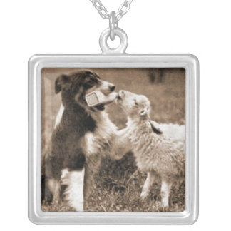 """""""Border Collie and Lamb""""~Necklace"""