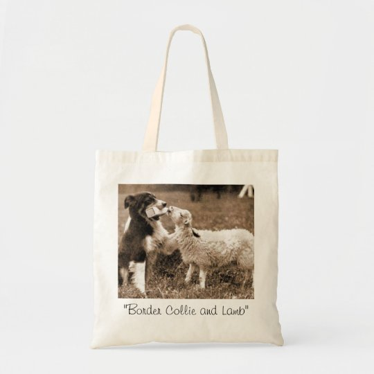 """""""Border Collie and Lamb""""~ Tote"""