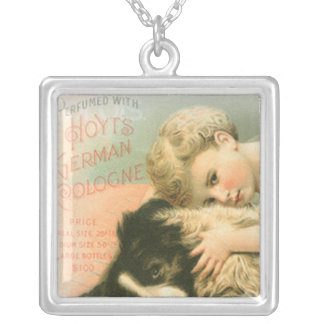 """""""Border Collie and Little Girl""""~Sterling Necklace"""