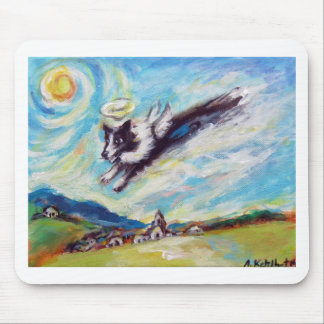 Border Collie angel flies free Mouse Pad