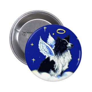 Border Collie Angel Pin
