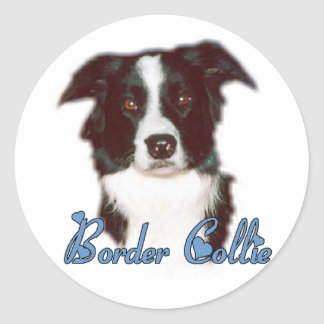 Border Collie Art Gifts Classic Round Sticker