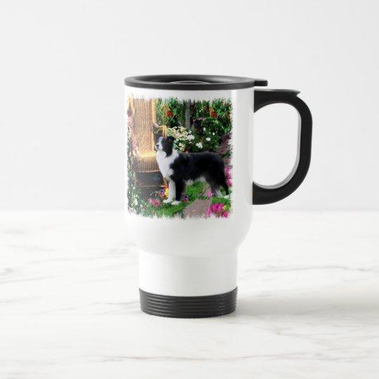 Border Collie Art Gifts Travel Mug