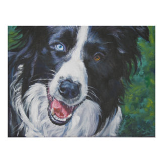 Border Collie Art Print