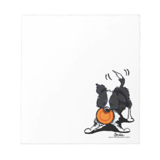 Border Collie at Play Memo Note Pads