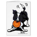 Border Collie at Play Stationery Note Card