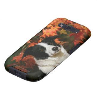 Border Collie Autumn Headshot Galaxy S3 Covers