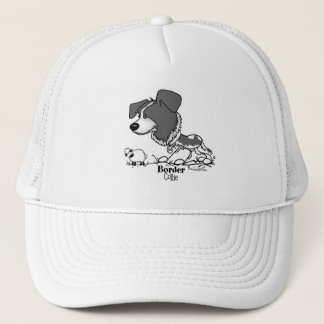 Border Collie - B/W Trucker Hat