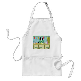 Border Collie Bamboo Tiki Bar Adult Apron