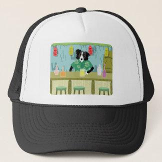 Border Collie Bamboo Tiki Bar Trucker Hat