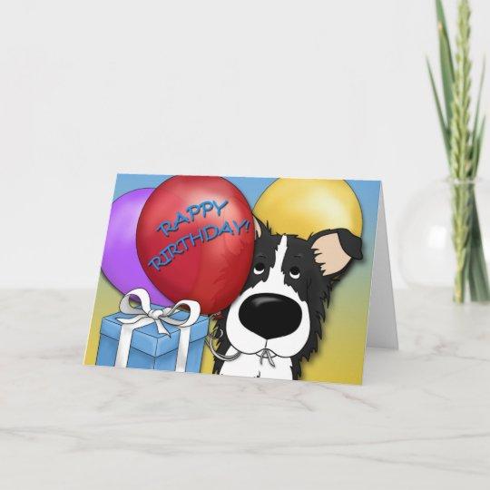Border Collie Birthday Card Zazzle
