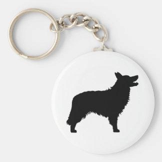 Border Collie (black) Keychain