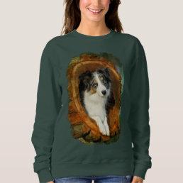 Border Collie Blue Merle Dog Animal Funny  classic Sweatshirt