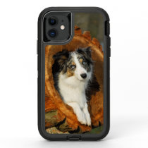 Border Collie Blue Merle Dog Head Photography Pet OtterBox Defender iPhone 11 Case